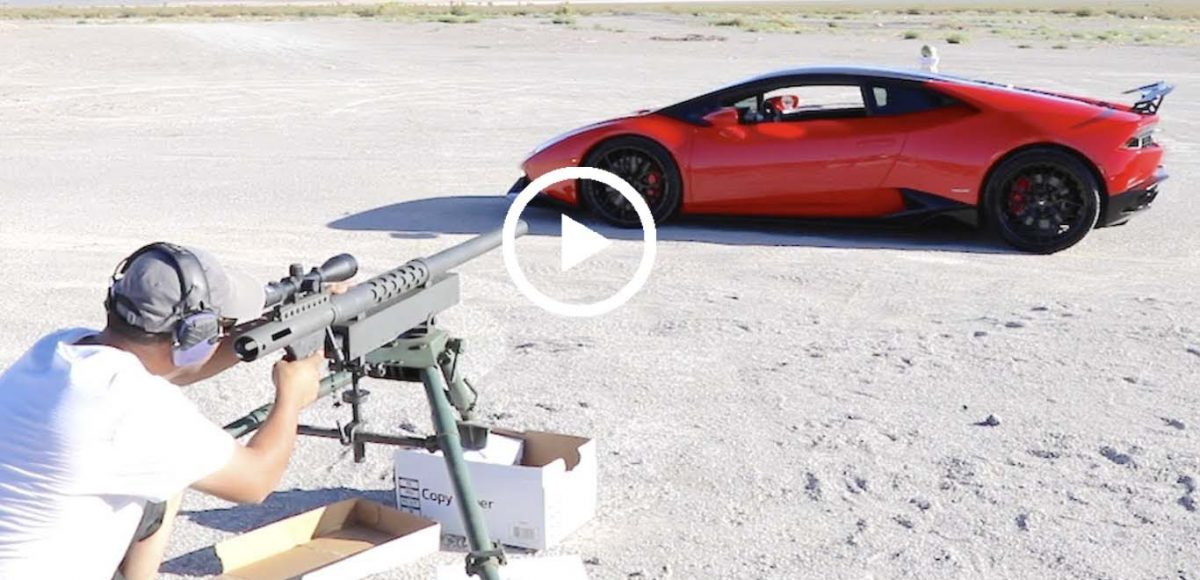 Firing A 20MM Through A Lamborghini - VIR